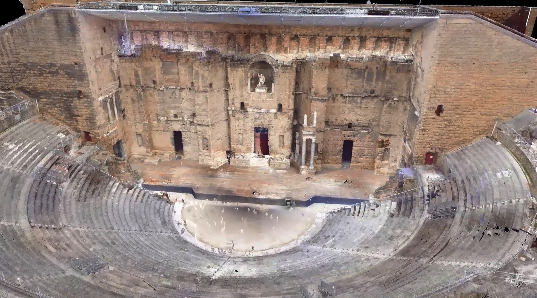 07 Roman theater, Orange - Point cloud