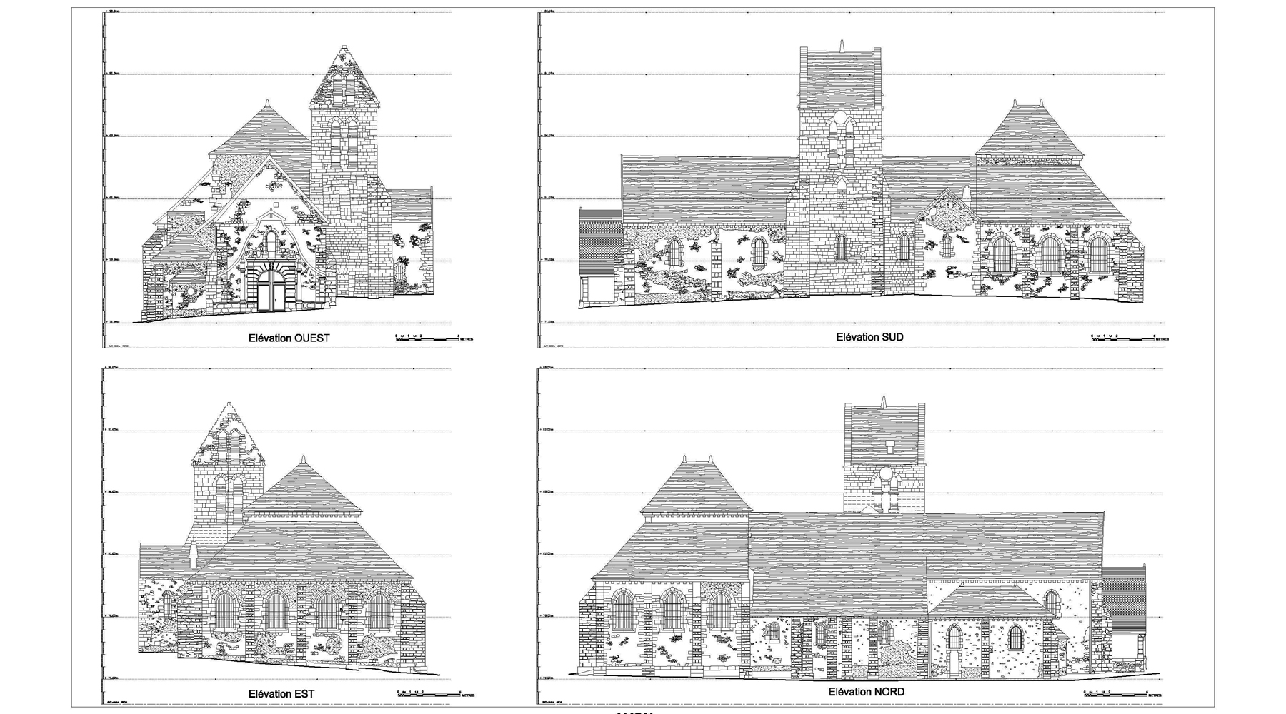 Saint Pierre Church, Avon - Elevations
