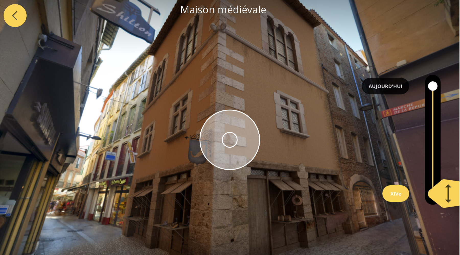 L'interface de l'application Avignon 3D : la Maison Médiévale au (...)