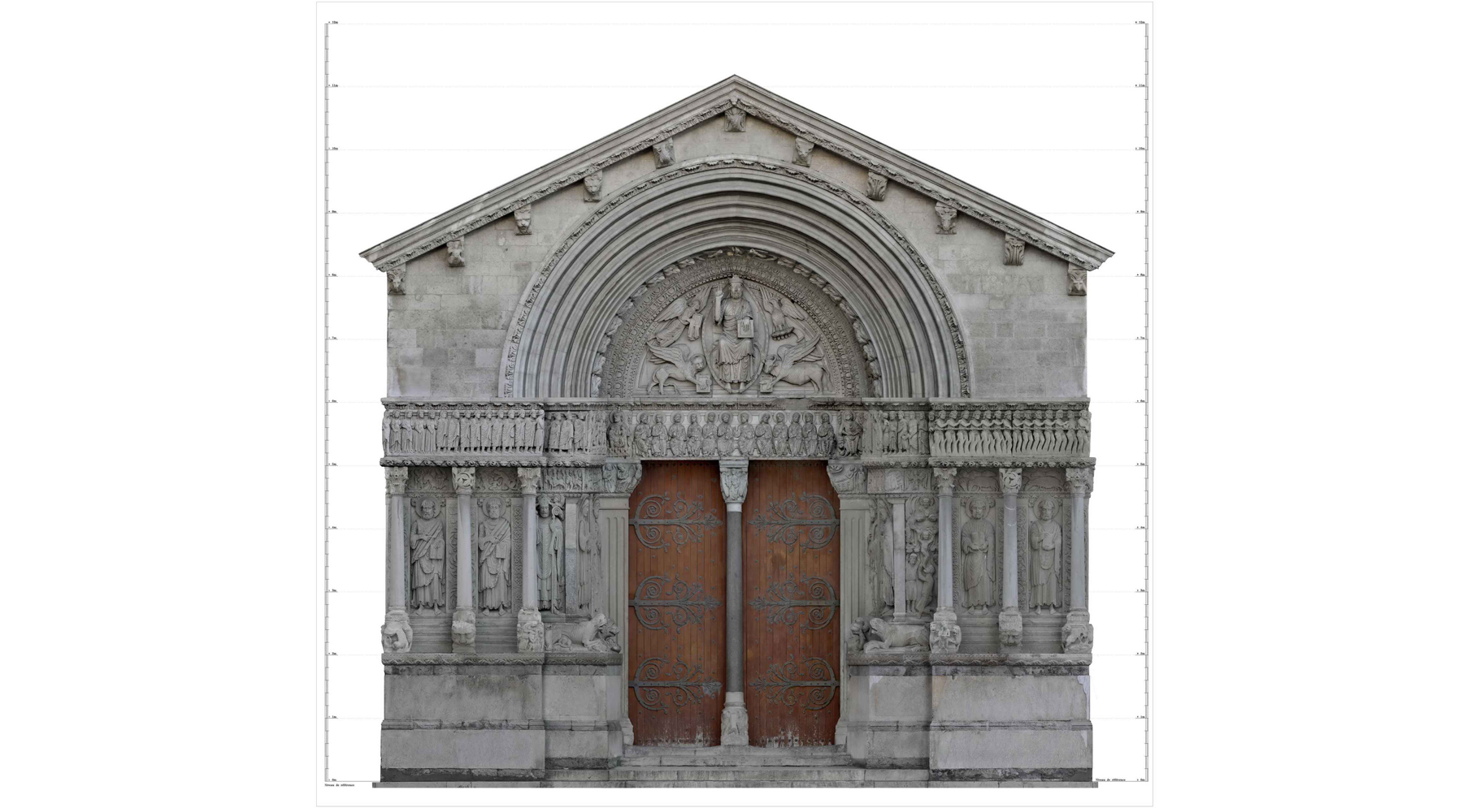 20 The door of the Saint-Trophime church, Arles - Orthophotograph