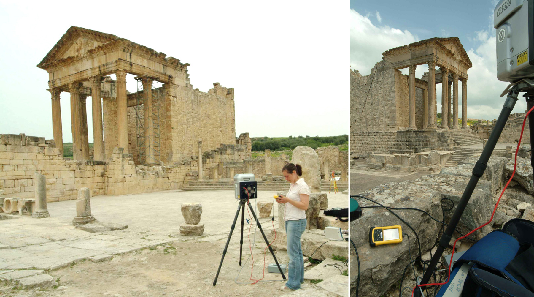 12 Capitol of Dougga, Tunisie - Laser scanning survey