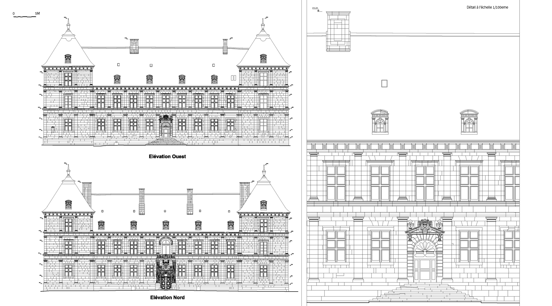 Château d'Ancy le Franc - Elevations