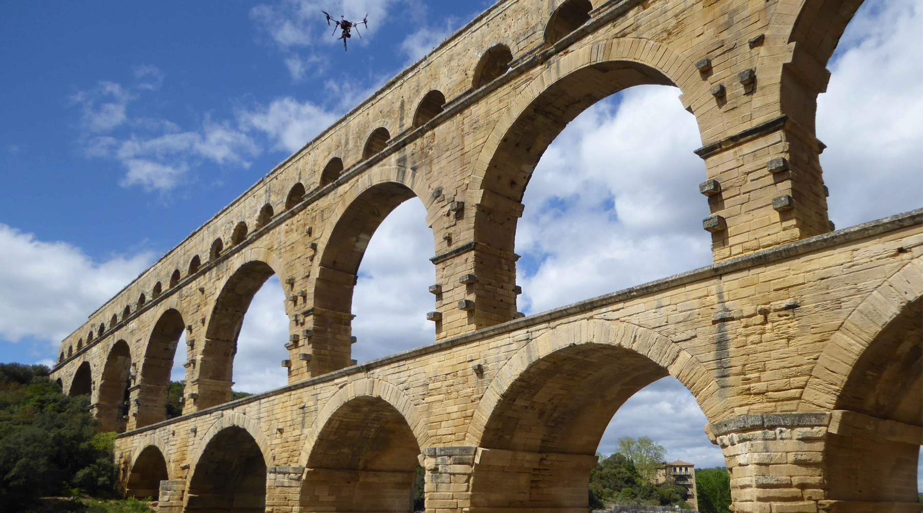 01 Pont du Gard - aerial surveys by drone