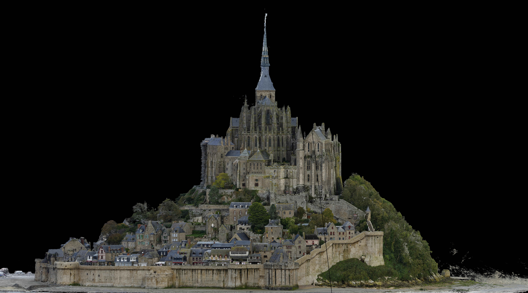 01 Mont Saint-Michel - Point cloud