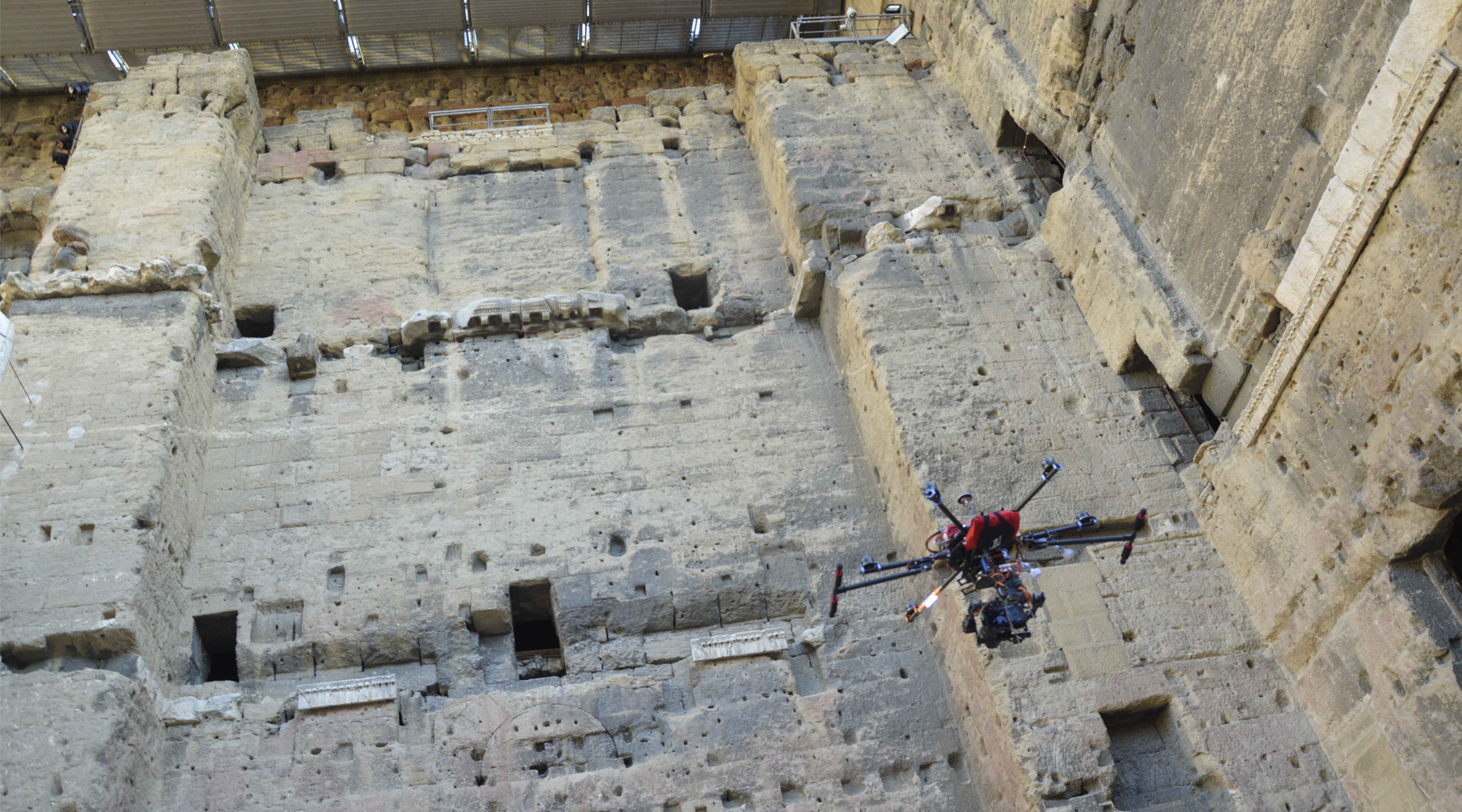 03 Roman theater, Orange - Aerial surveys by drone
