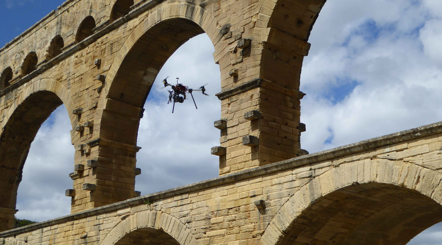 02 Pont du Gard - Aerial surveys by drone