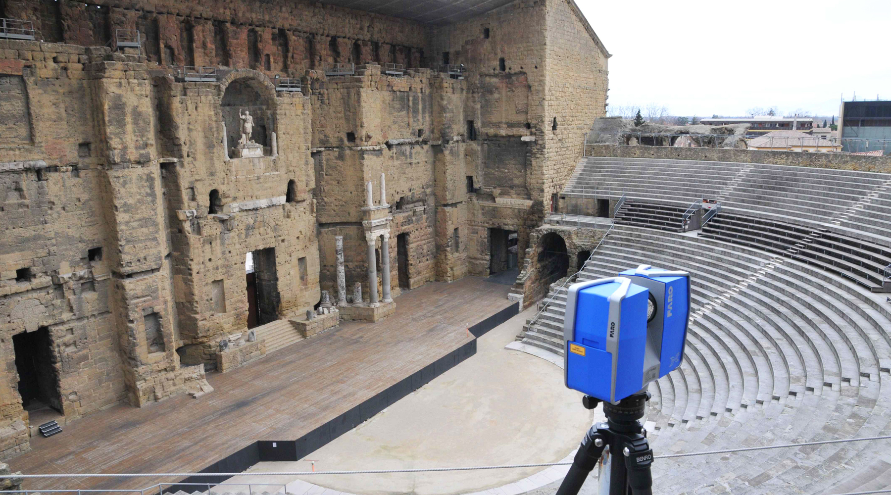 06 Roman theater, Orange - Laser scanning survey
