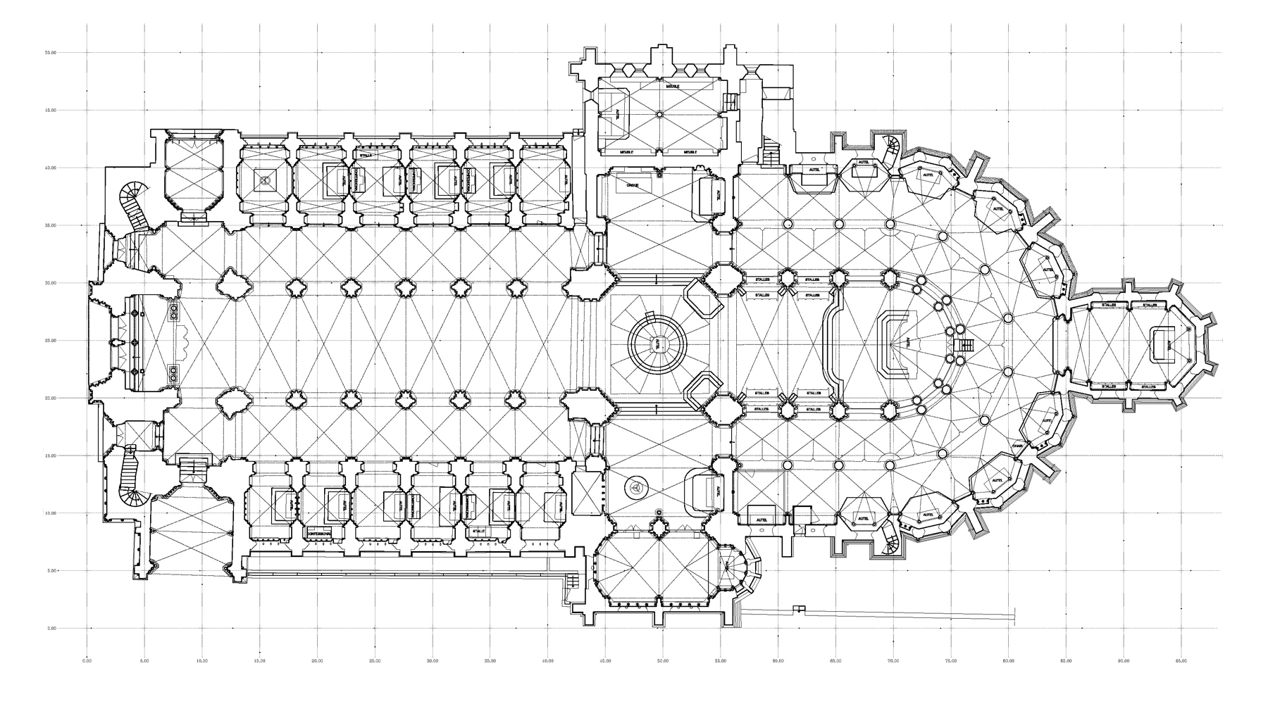 Notre Dame Cathedral, Coutances - Plan