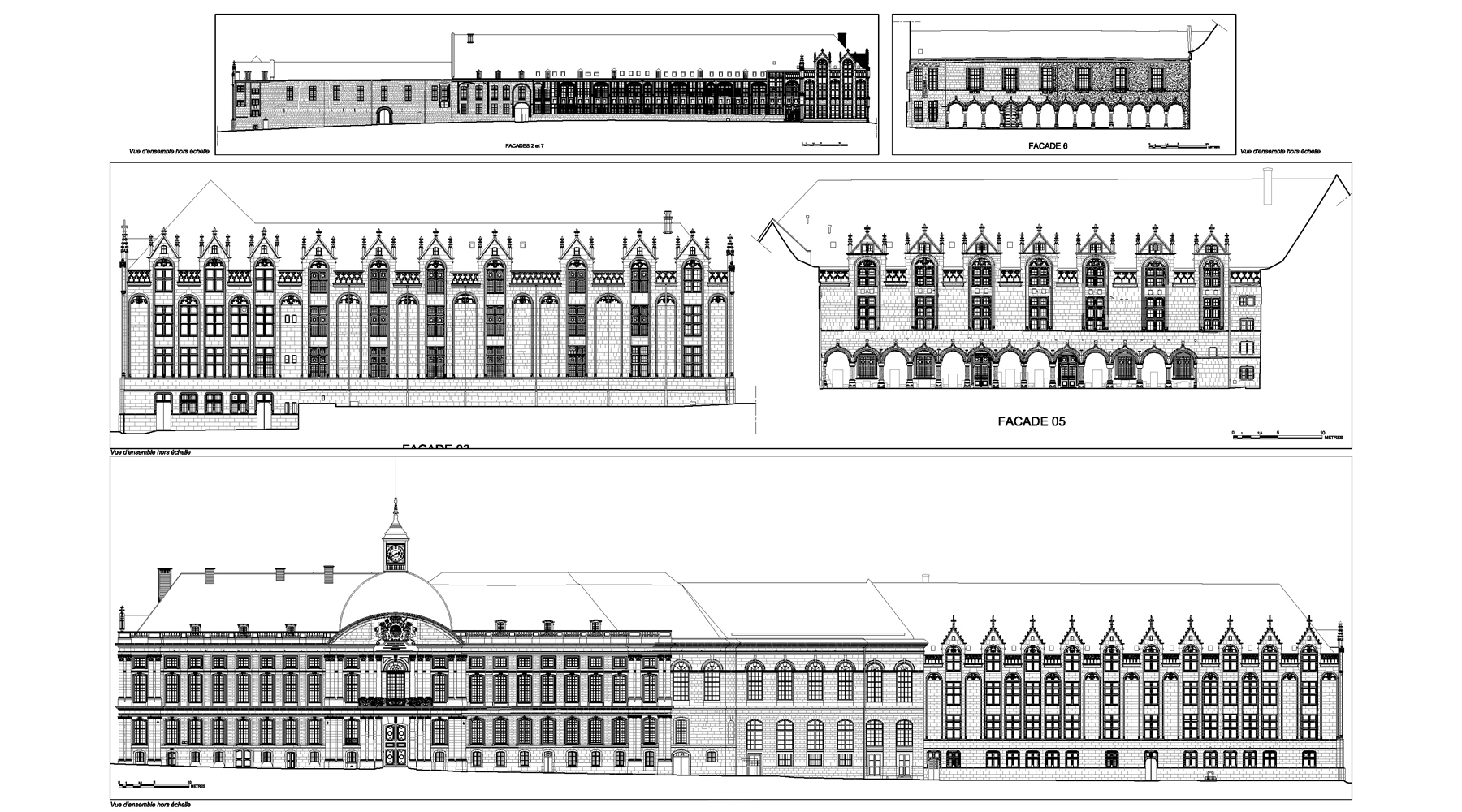 Palais de Justice, Liège - Elevations