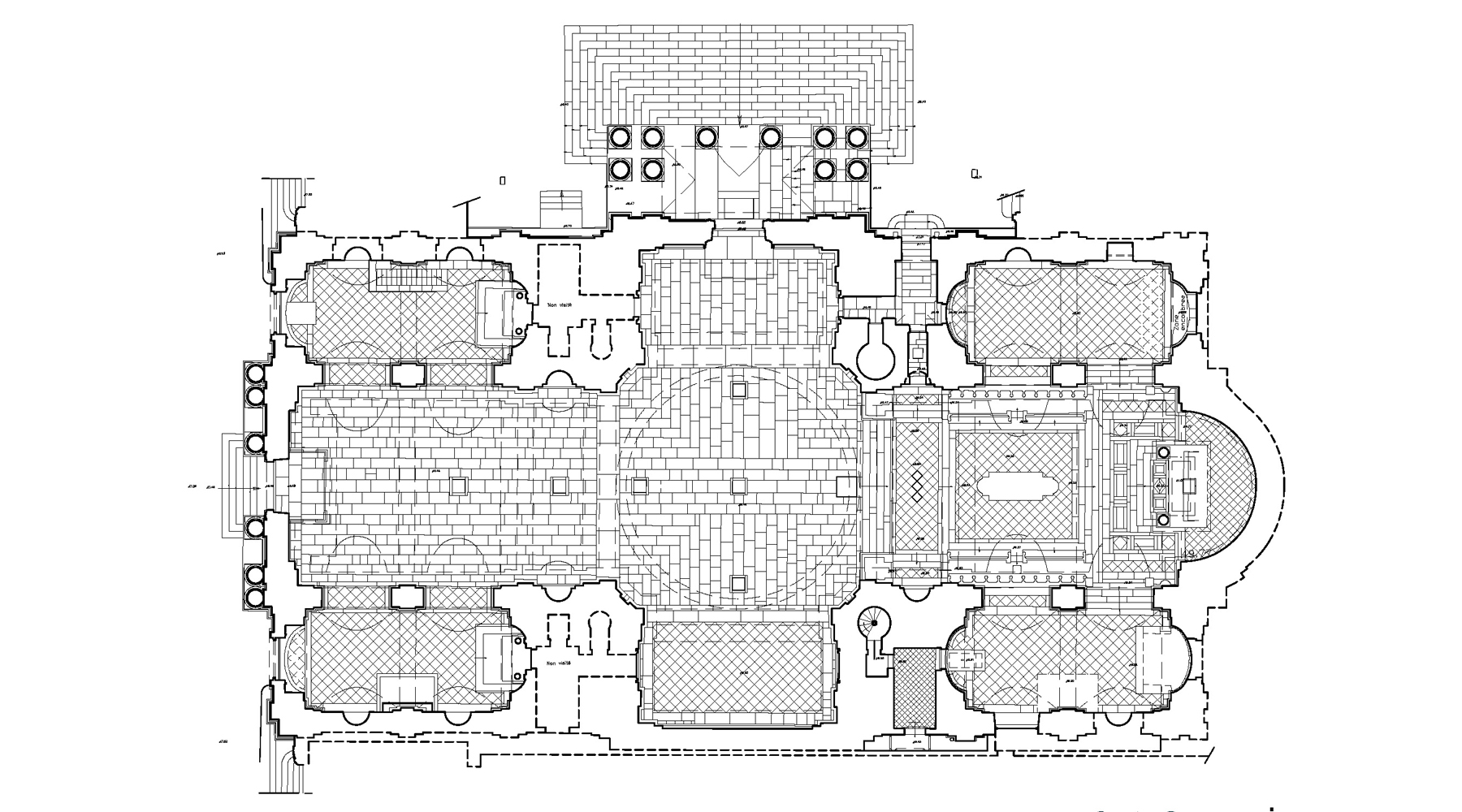 Chapelle de la Sorbonne, Paris - Plan