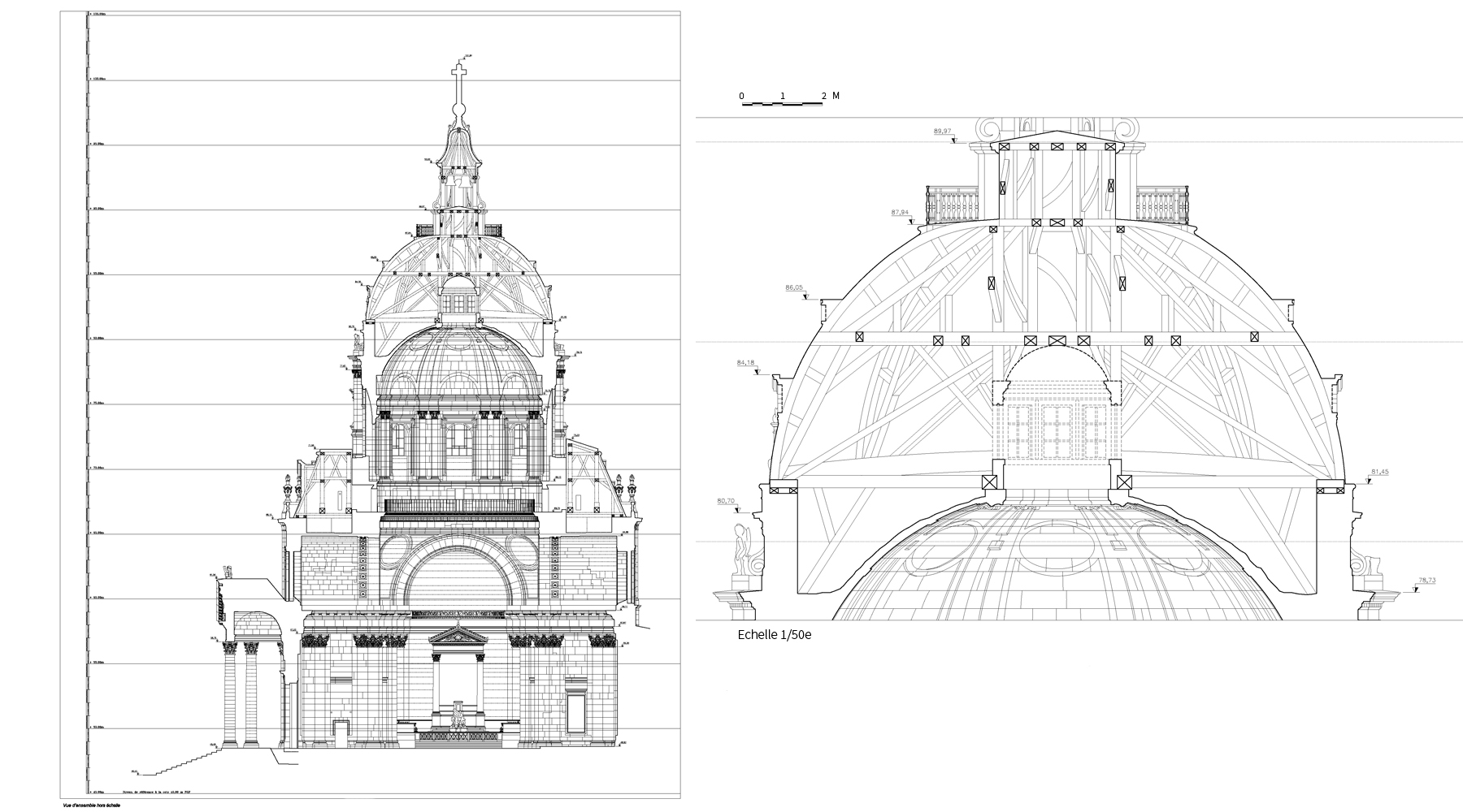 Chapelle de la Sorbonne, Paris - Sections