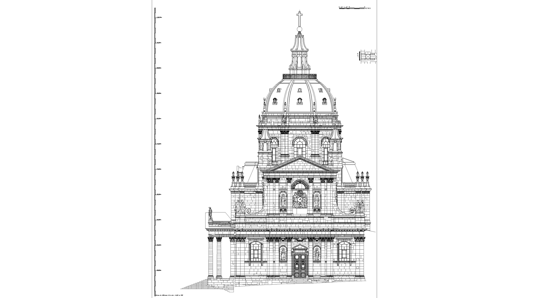 Chapelle de la Sorbonne, Paris - Elevation O