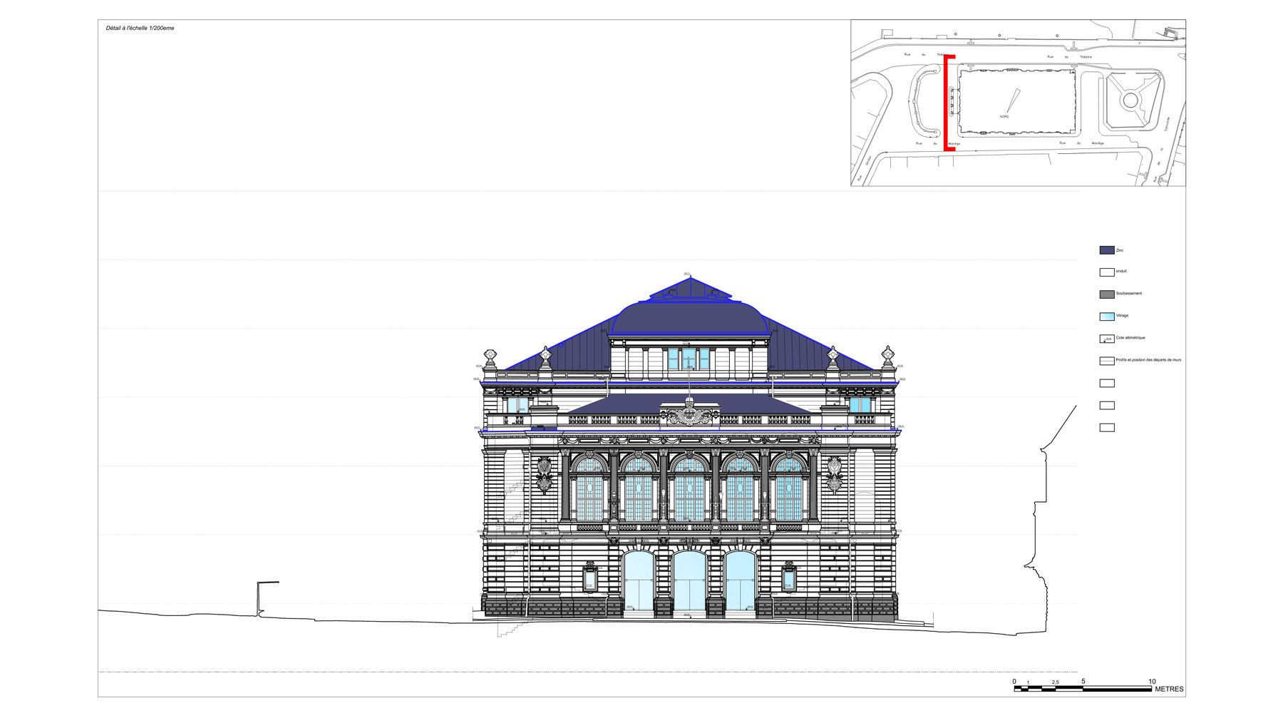 Grand théâtre, Verviers - Elevation