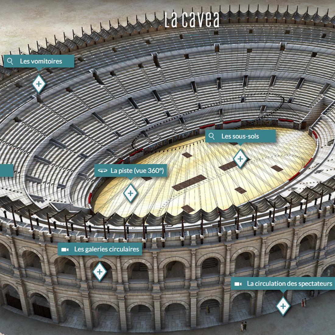 Webdoc arena of n mes art graphique et patrimoine for Art et fenetre nimes